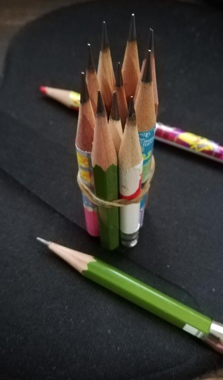 働きものの鉛筆。