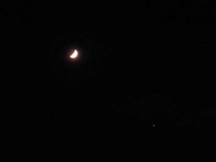 月と木星が接近中!